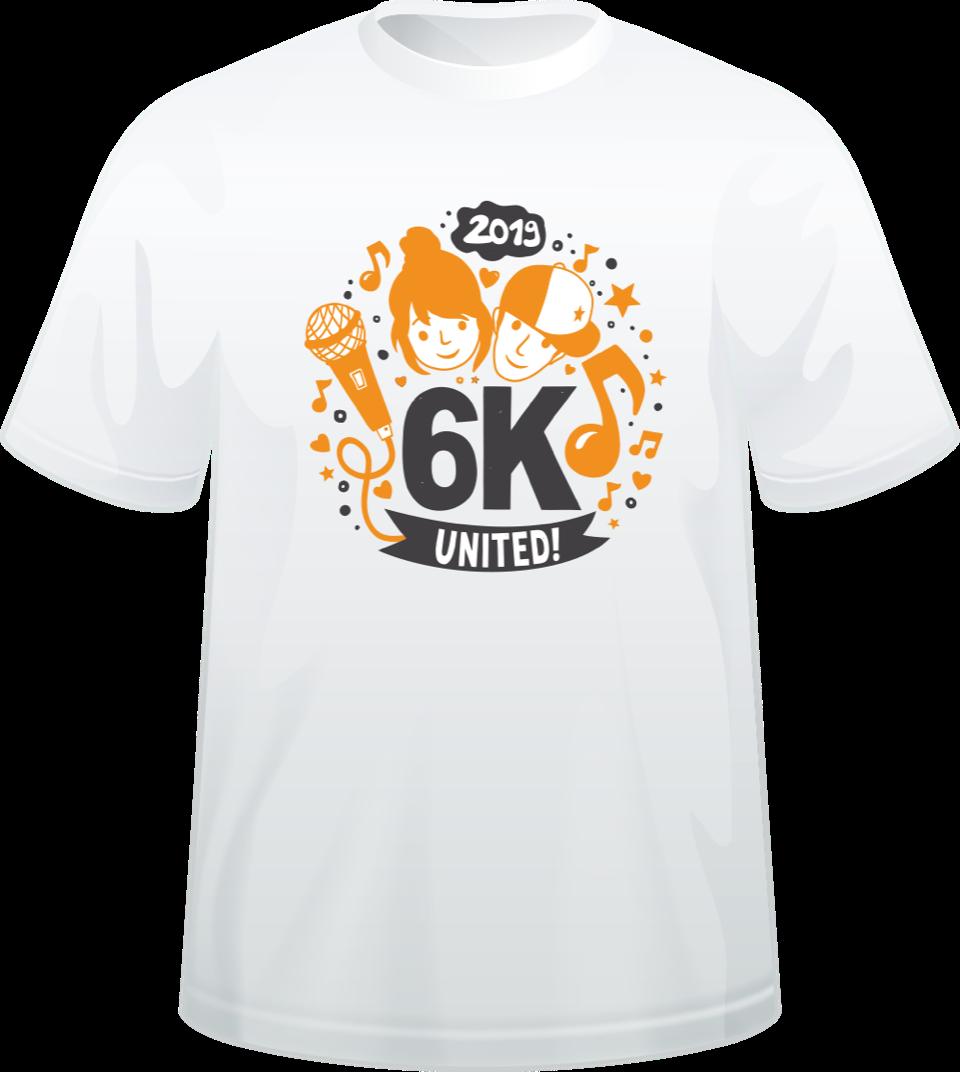d12227b3 Chor T-Shirt 2019 | 6K UNITED!